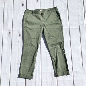 New J. Crew Frankie Fit Rolled Cuff Ankle Pants